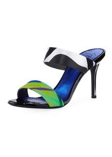 Giuseppe Zanotti Printed Double-Strap Slide Sandal