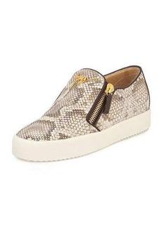 Giuseppe Zanotti Python-Embossed Slip-On Sneaker