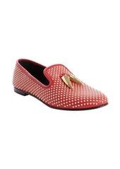 Giuseppe Zanotti red studded 'Dalila' leather loafers
