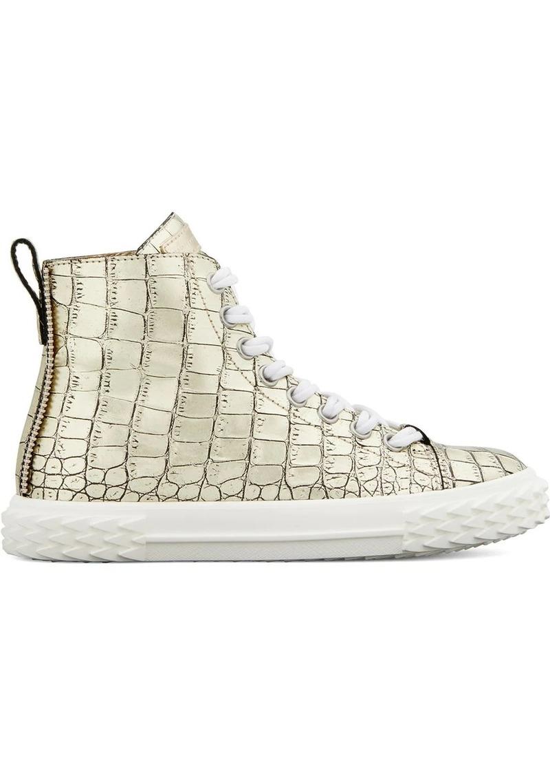 Giuseppe Zanotti crocodile-effect high-top sneakers