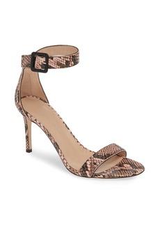 Giuseppe Zanotti Snake Embossed Ankle Strap Sandal (Women)