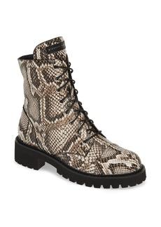 Giuseppe Zanotti Snake Embossed Combat Boot (Women)