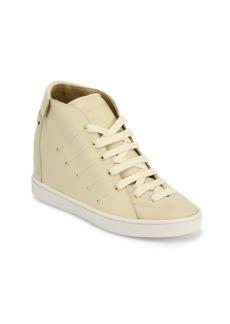 Giuseppe Zanotti Soma 50 Leather High-Top Wedge Sneakers