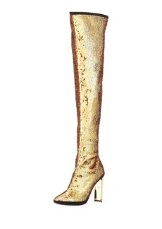 Giuseppe Zanotti Stretch Sequin Over-The-Knee Boot