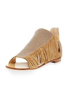 Giuseppe Zanotti Studded Fringe Flat Sandal