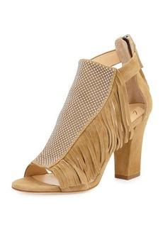 Giuseppe Zanotti Studded Fringe Mid-Heel Sandal