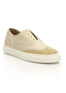 Giuseppe Zanotti Studded Leather Slip-On Oxford Sneakers