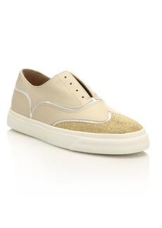 Giuseppe Zanotti Studded Leather Slip-On Oxford Sneakers