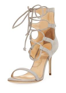 Giuseppe Zanotti Suede Lace-Up Tall Sandal