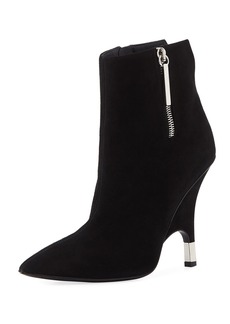 Giuseppe Zanotti Suede Zip Ankle Booties