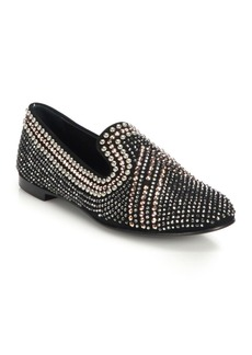 Giuseppe Zanotti Swarovski-Embellished Suede Loafers