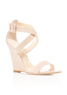 Giuseppe Zanotti Taline Patent Criss Cross Wedge Sandals