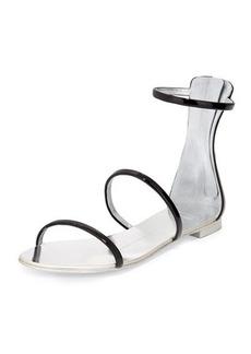 Giuseppe Zanotti Three-Strap Patent Flat Sandal