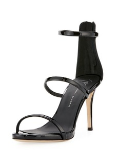 Giuseppe Zanotti Three-Strap Patent Leather Sandal