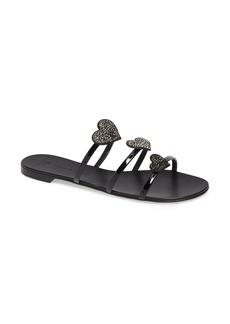 Giuseppe Zanotti Triple Heart Embellished Slide Sandal (Women)