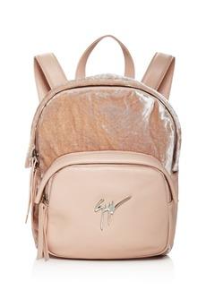 Giuseppe Zanotti Velvet Backpack