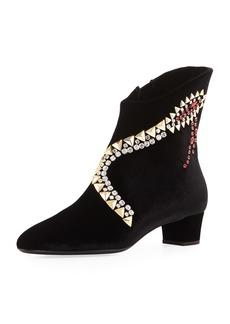 Giuseppe Zanotti Veronica Crystal-Embellished Velvet Bootie