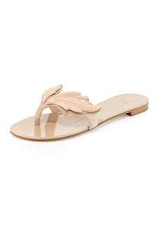 Giuseppe Zanotti Wings Suede Flat Thong Sandal