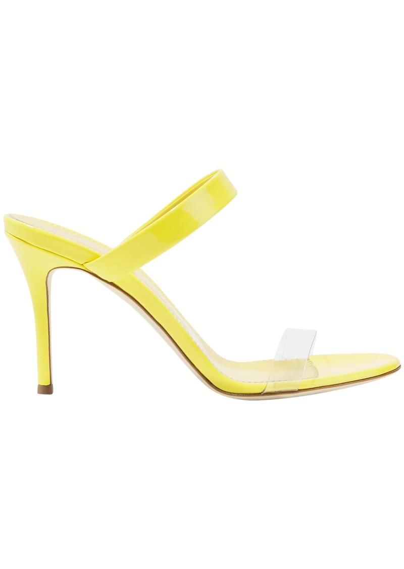 Giuseppe Zanotti Woman Ali 90 Patent-leather And Perspex Sandals Bright Yellow