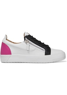Giuseppe Zanotti Woman Birel Zip-detailed Color-block Leather Sneakers White