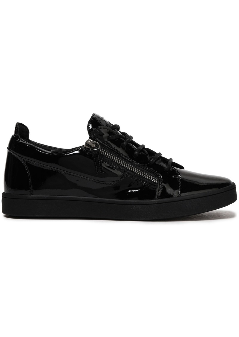 Giuseppe Zanotti Woman Brek Patent-leather Sneakers Black