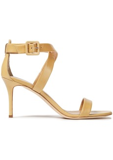 Giuseppe Zanotti Woman Coline 80 Leather Sandals Pastel Yellow