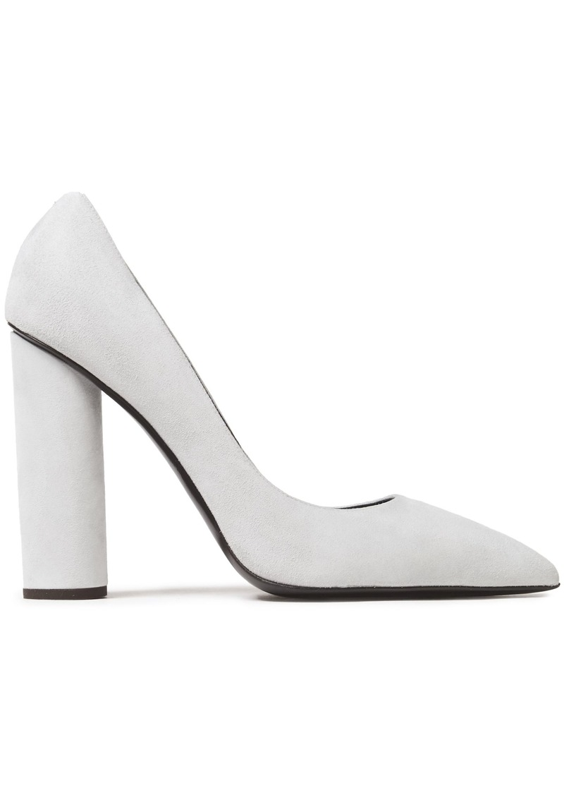 Giuseppe Zanotti Woman Crudelia 110 Suede Pumps Light Gray