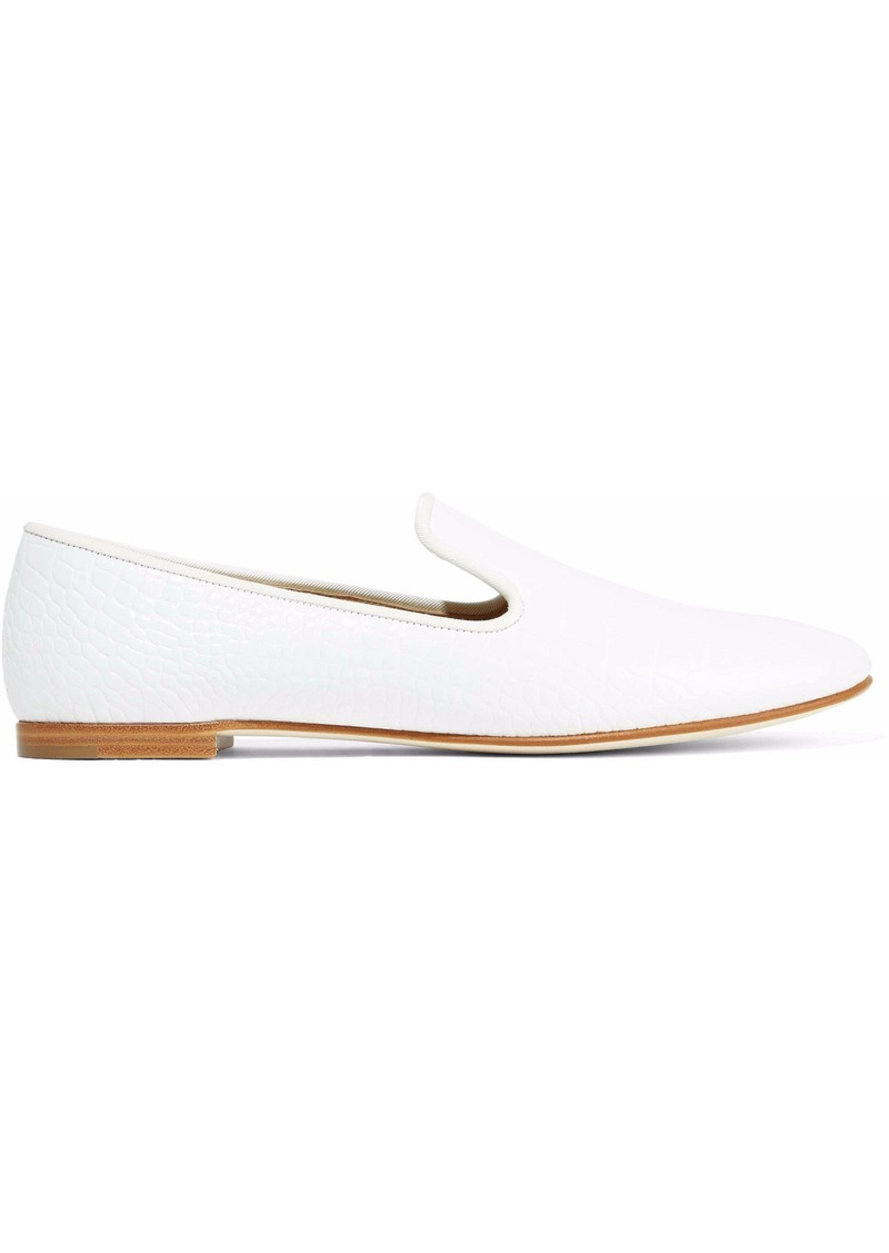 Giuseppe Zanotti Woman Dalila Croc-effect Leather Slippers White