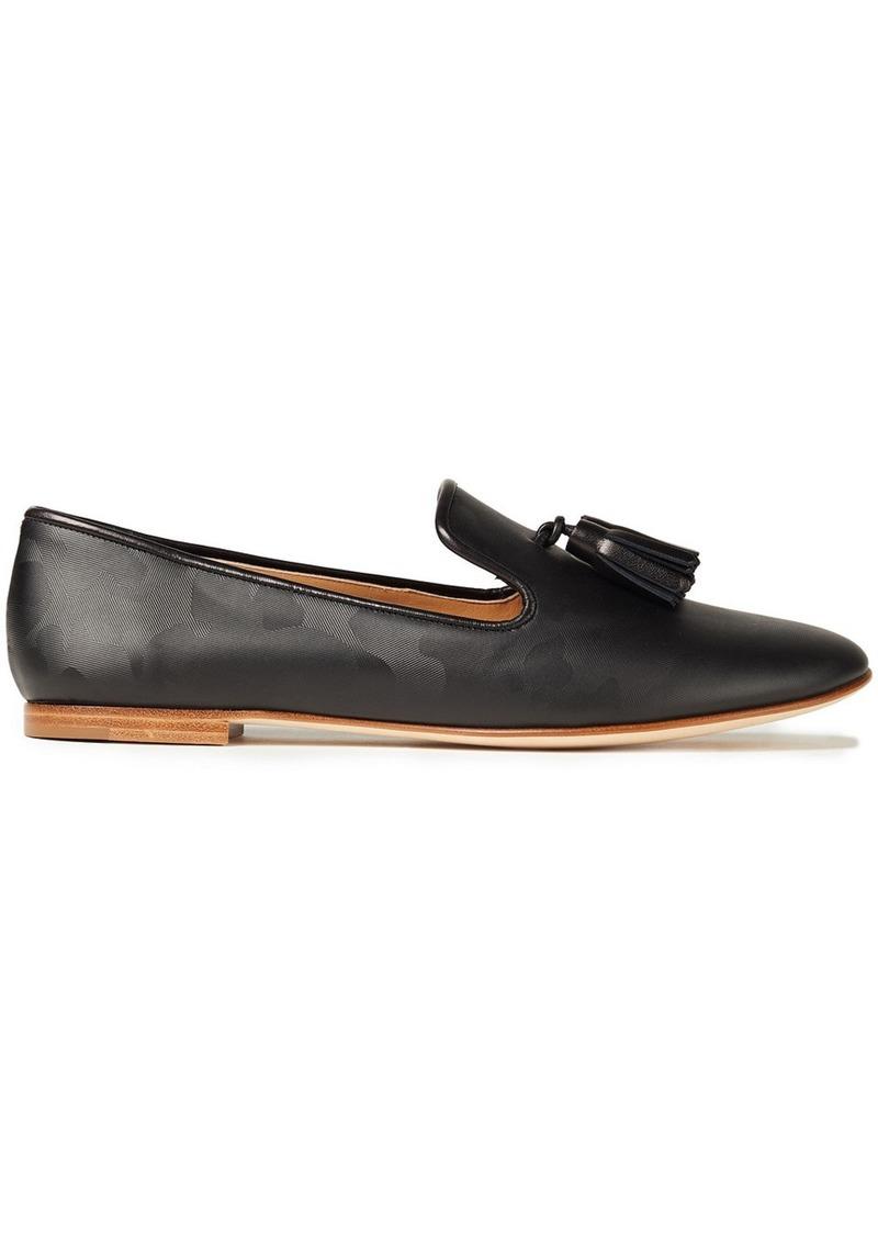 Giuseppe Zanotti Woman Dalila Tasseled Printed Leather Loafers Black