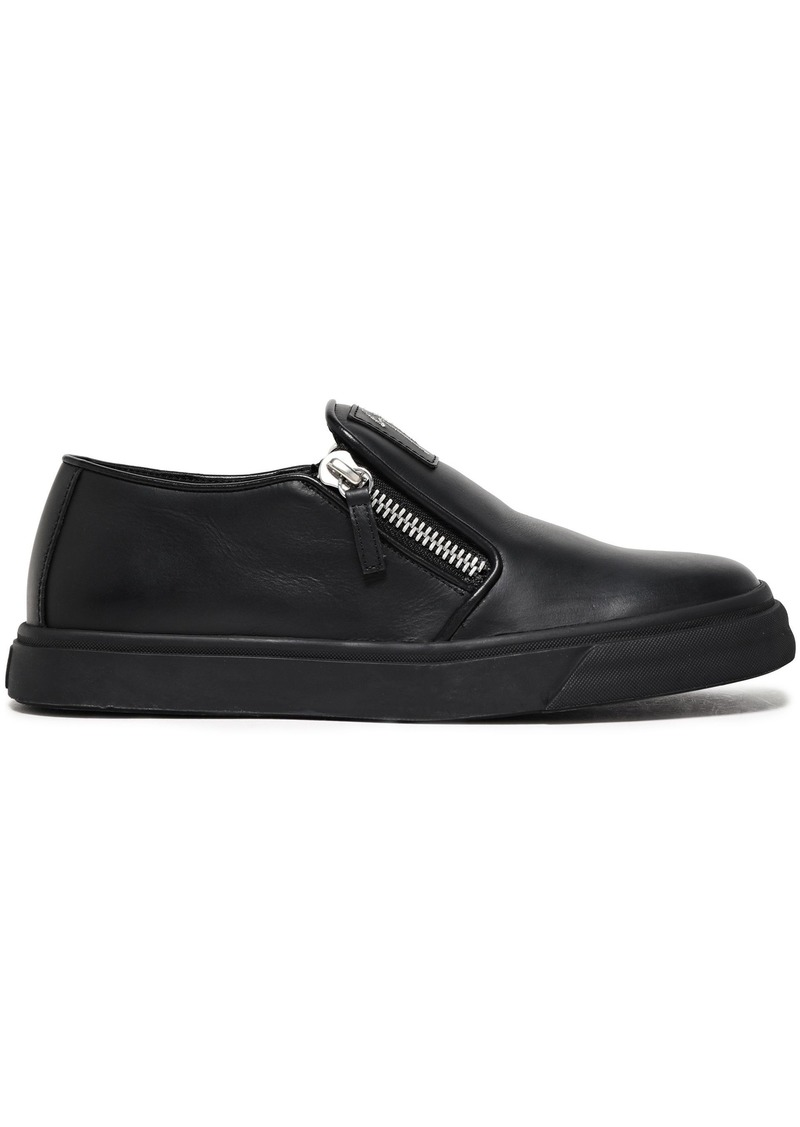 Giuseppe Zanotti Woman Eve Leather Slip-on Sneakers Black
