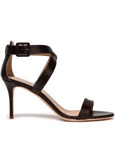 Giuseppe Zanotti Woman Leather Sandals Dark Brown