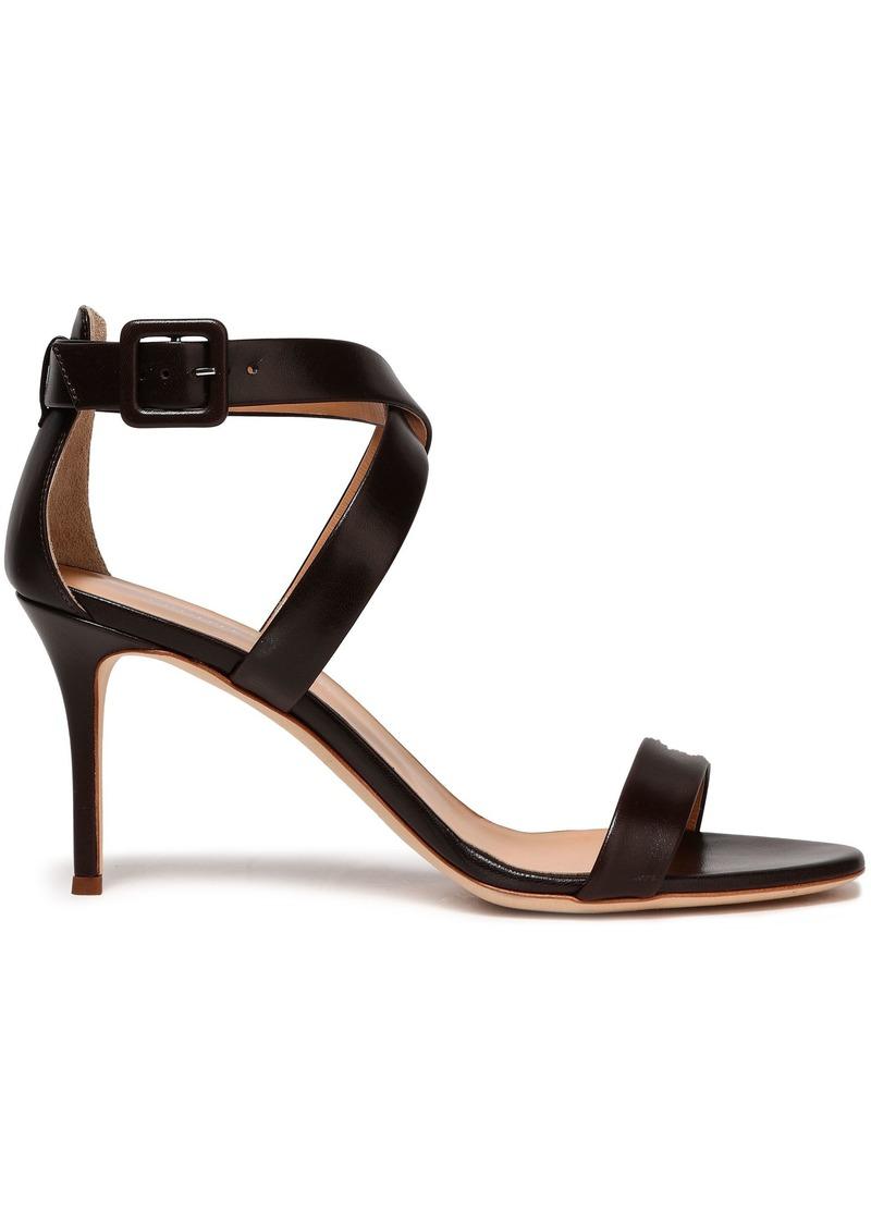 Giuseppe Zanotti Woman Leather Sandals Dark Brown