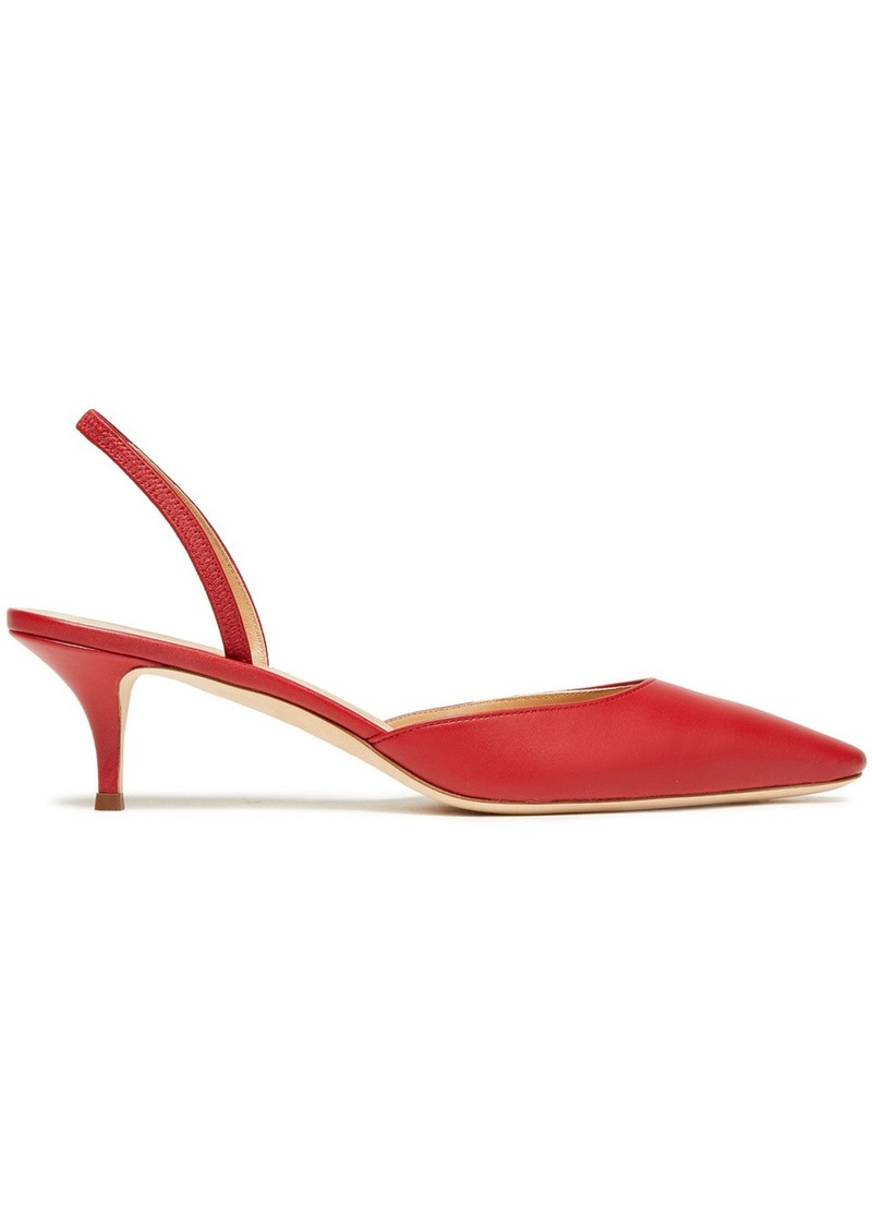 Giuseppe Zanotti Woman Leather Slingback Pumps Claret