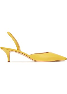 Giuseppe Zanotti Woman Leather Slingback Pumps Yellow