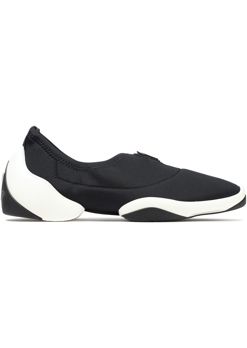 Giuseppe Zanotti Woman Light Jump Lt1 Neoprene Slip-on Sneakers Black