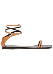Giuseppe Zanotti Woman Catia Lizard-effect Leather Sandals Light Brown