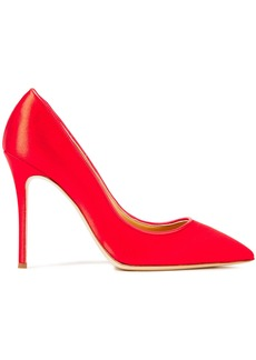 Giuseppe Zanotti Woman Lucrezia 105 Leather-trimmed Satin Pumps Red