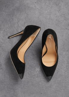 Giuseppe Zanotti Woman Lucrezia 105 Patent Leather-trimmed Suede Pumps Black