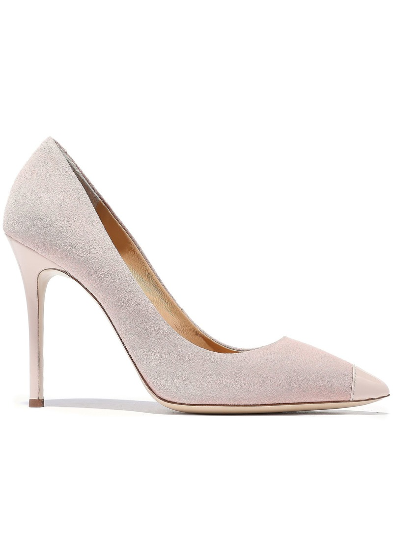 Giuseppe Zanotti Woman Lucrezia 105 Patent Leather-trimmed Suede Pumps Blush