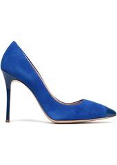 Giuseppe Zanotti Woman Lucrezia 105 Patent Leather-trimmed Suede Pumps Bright Blue