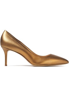 Giuseppe Zanotti Woman Lucrezia 70 Metallic Leather Pumps Gold