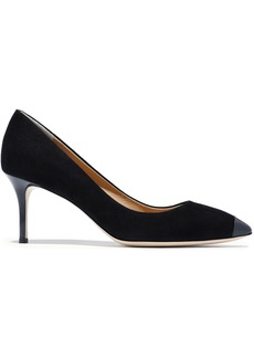 Giuseppe Zanotti Woman Lucrezia 70 Patent Leather-trimmed Suede Pumps Black