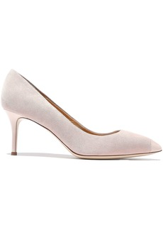Giuseppe Zanotti Woman Lucrezia 70 Patent Leather-trimmed Suede Pumps Blush