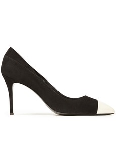 Giuseppe Zanotti Woman Lucrezia 90 Patent Leather-trimmed Suede Pumps Black