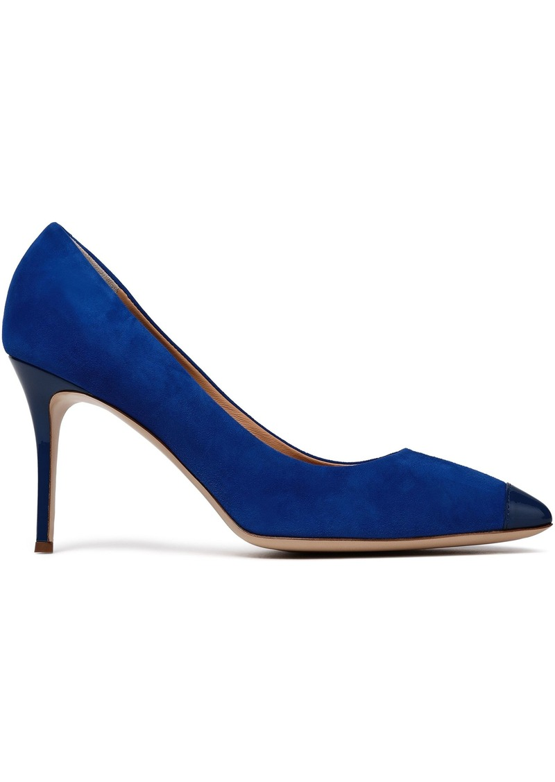 Giuseppe Zanotti Woman Lucrezia 90 Patent Leather-trimmed Suede Pumps Royal Blue