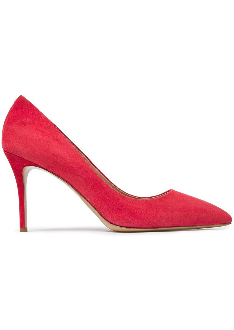 Giuseppe Zanotti Woman Lucrezia 90 Suede Pumps Crimson
