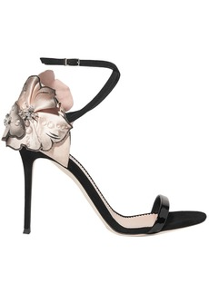 Giuseppe Zanotti Woman Mistico Floral-appliquéd Suede Sandals Black