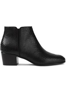 Giuseppe Zanotti Woman Nicky Snake-effect Leather Ankle Boots Black