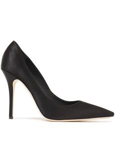 Giuseppe Zanotti Woman Notte 105 Silk-satin Pumps Black