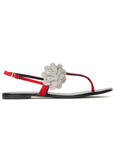 Giuseppe Zanotti Woman Phoebe Crystal-embellished Suede Sandals Red